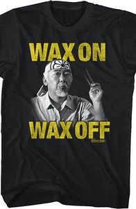 Miyagi Photo Wax On Wax Off T-Shirt