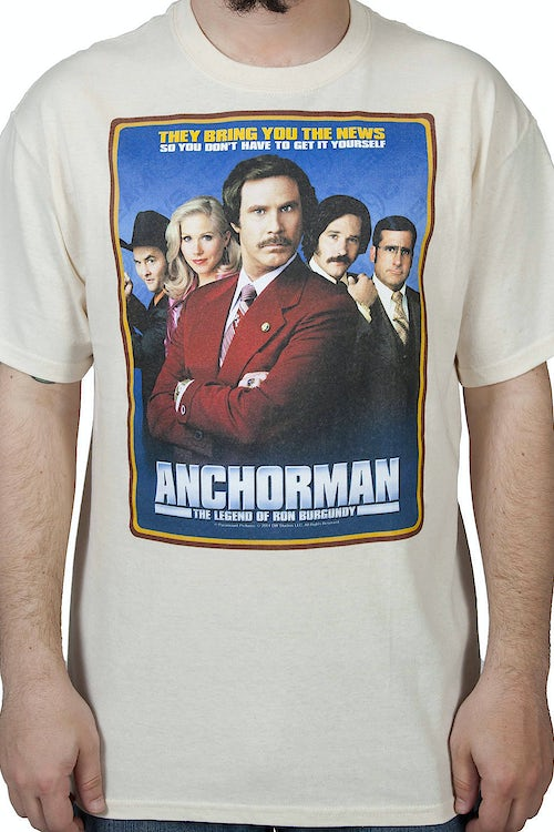 Movie Poster Anchorman Shirt