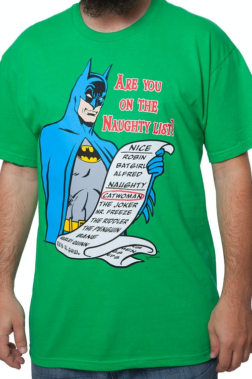 Naughty List Batman T-Shirt