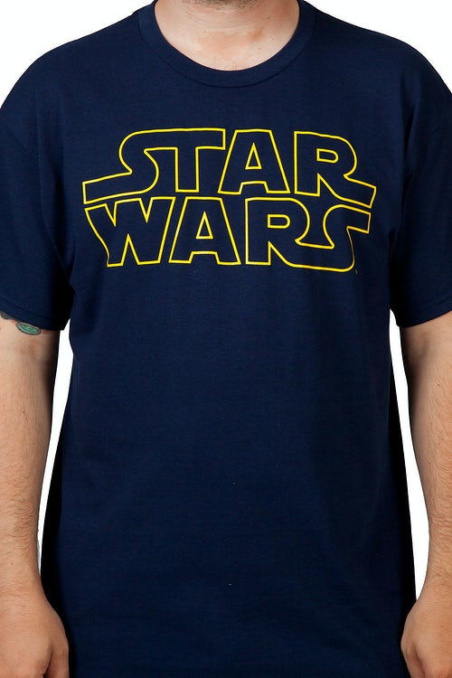 Navy Star Wars Logo Shirt