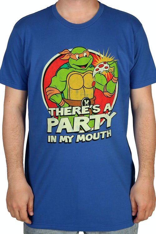 Party In My Mouth Michelangelo Shirt