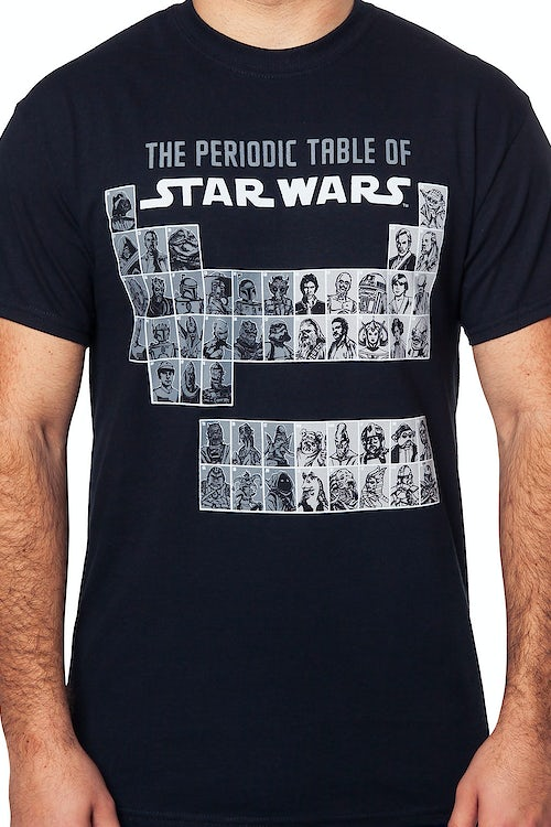 Periodic Table of Star Wars T-Shirt