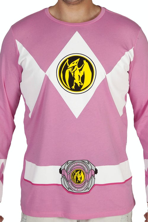 Pink Ranger Long Sleeve Costume Shirt