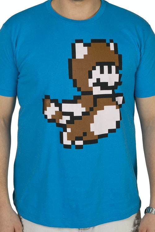 d26860f73 Pixel Mario Tanooki Suit Shirt: Nintendo Super Mario Bros Mens T-shirt