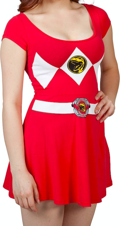 Red Power Ranger Skater Dress