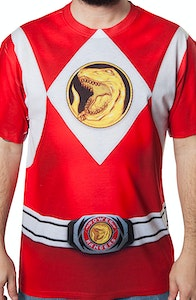 Red Ranger Sublimation Costume Shirt