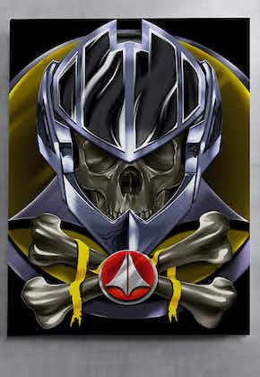 Robotech Roy Fokker Helmet Color Canvas Wall Art