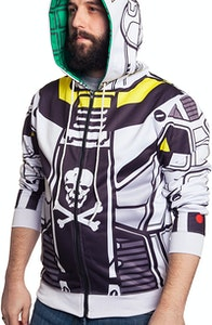 Robotech Skull-One Sublimation Costume Hoodie
