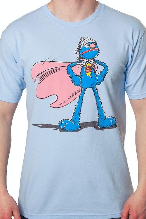 9bd0f832 Sesame Street Super Grover T-Shirt: Sesame Street Mens T-shirt