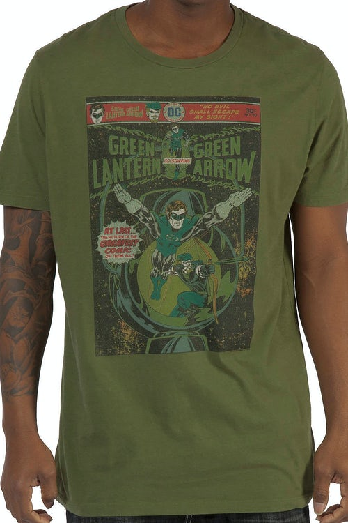 Sheldons Green Lantern and Green Arrow Shirt