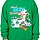 Smurf Christmas Faux Ugly Sweater
