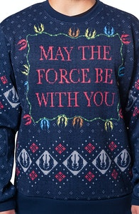Star Wars May the Force Be With You Faux Christmas Sweater