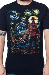 Starry Nightmare Freddy and Jason T-Shirt