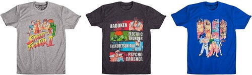 Street Fighter T-Shirt Arcade Action Pack