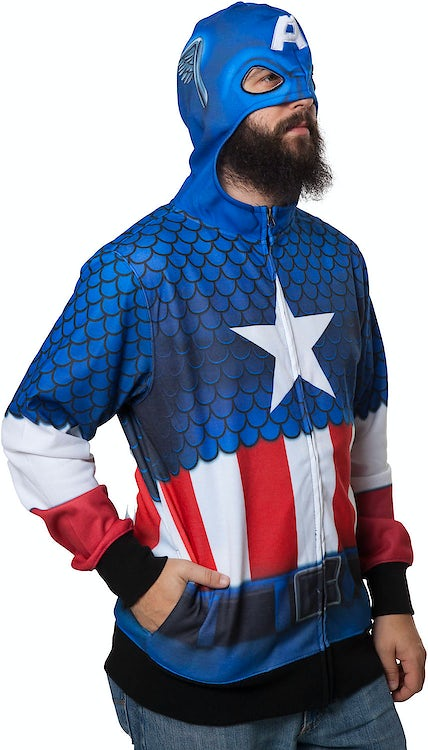 Sublimated Captain America Costume Hoodie