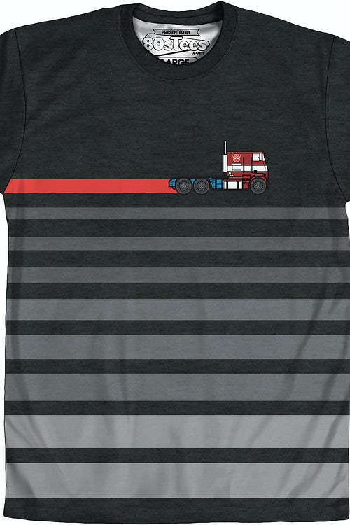 Sublimated Optimus Prime Stripe Transformers Shirt