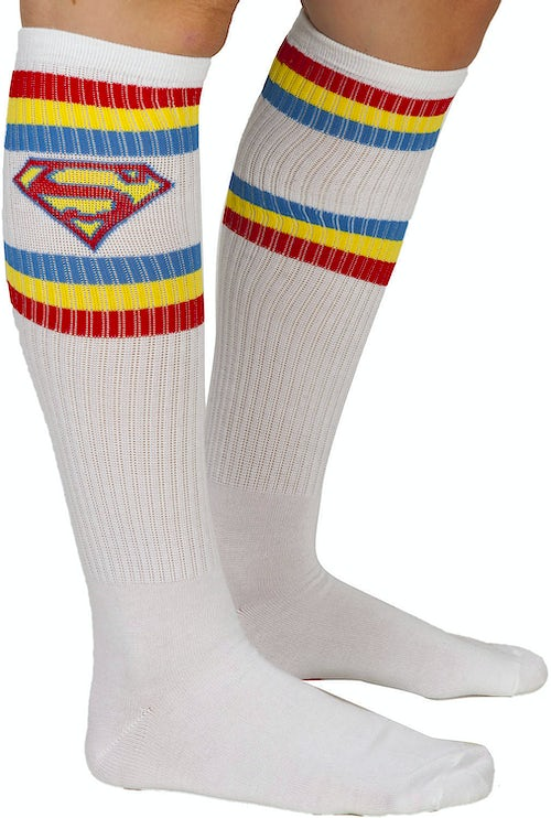 Superman Athletic Knee High Socks