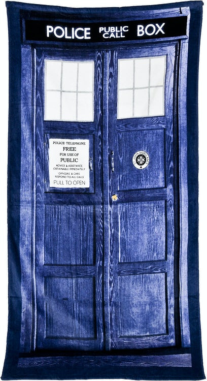 Tardis Doctor Who Towel