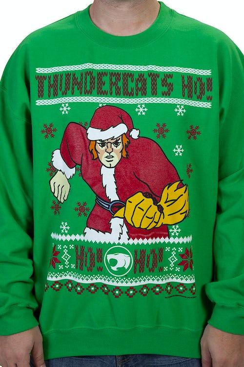 047d2df4dd0aa ThunderCats HO HO HO Faux Ugly Christmas Sweater