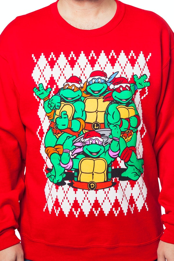 Teenage Mutant Ninja Turtles Christmas Faux Ugly Sweater