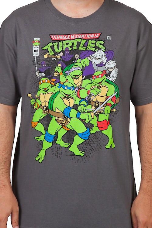TMNT Comic Shirt 80s Cartoons Teenage Mutant Ninja Turtles T
