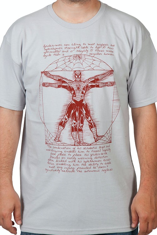 Vitruvian Spiderman Shirt