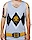 White Power Ranger Reversible Mesh Tank