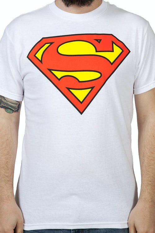 White Superman Logo Shirt