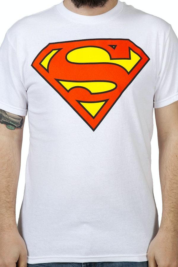 White Superman Logo Shirt Dc Comics Justice League Superman T Shirt