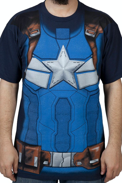 Winter Soldier Captain America Costume Shirt