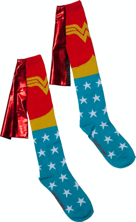 Wonder Woman Caped Knee High Socks