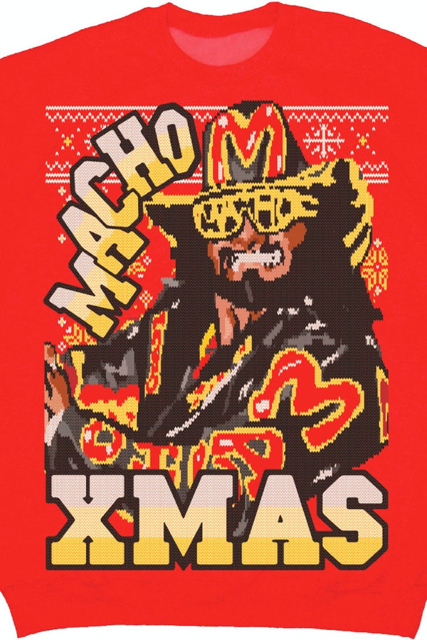 Xmas Macho Man Faux Ugly Sweater