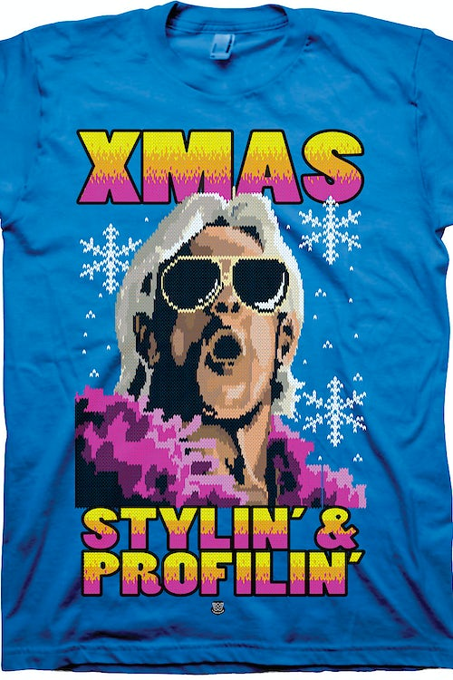 Xmas Ric Flair Faux Ugly Sweater T-Shirt