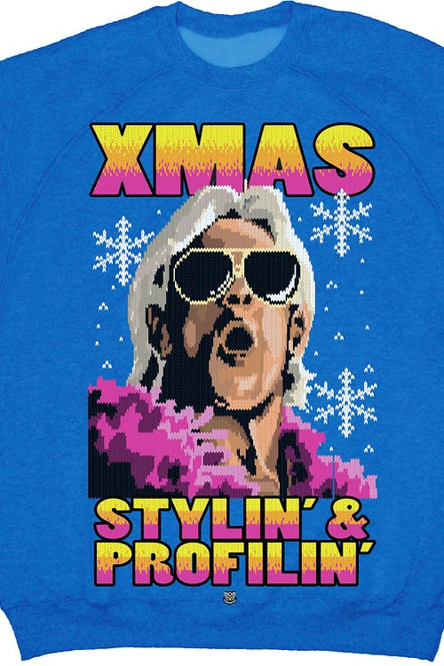 Xmas Ric Flair Faux Ugly Sweater