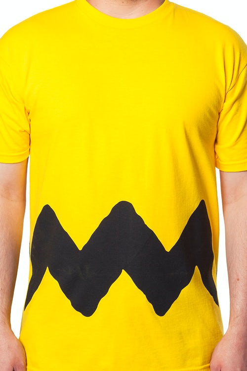 Yellow Charlie Brown Zig Zag Shirt