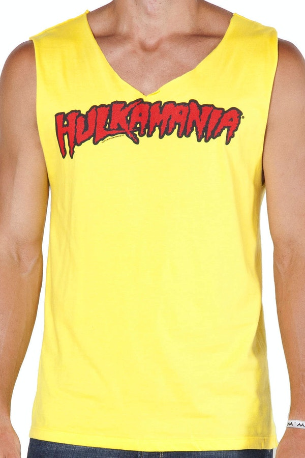 Yellow Hulk Hogan Costume Shirt