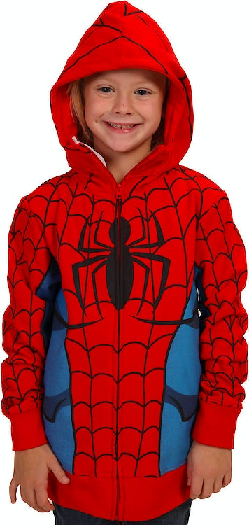 Youth Zip-Up Spider-Man Costume Hoodie
