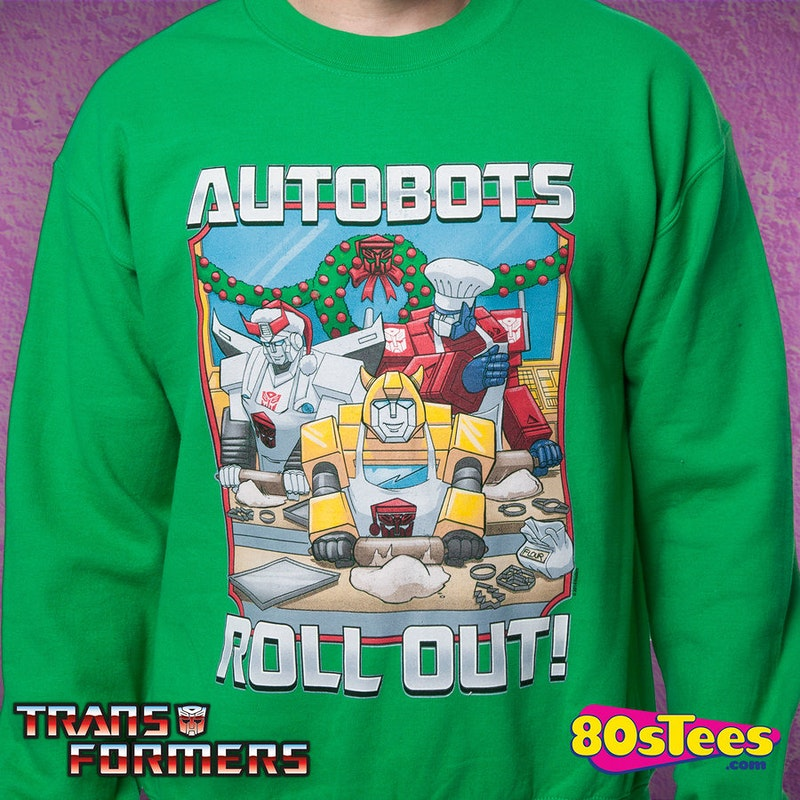Transformers Autobots Roll Out Faux Ugly Christmas Sweater
