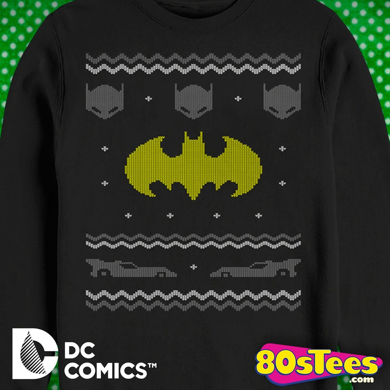 batman faux ugly christmas sweater batman mens sweatshirt