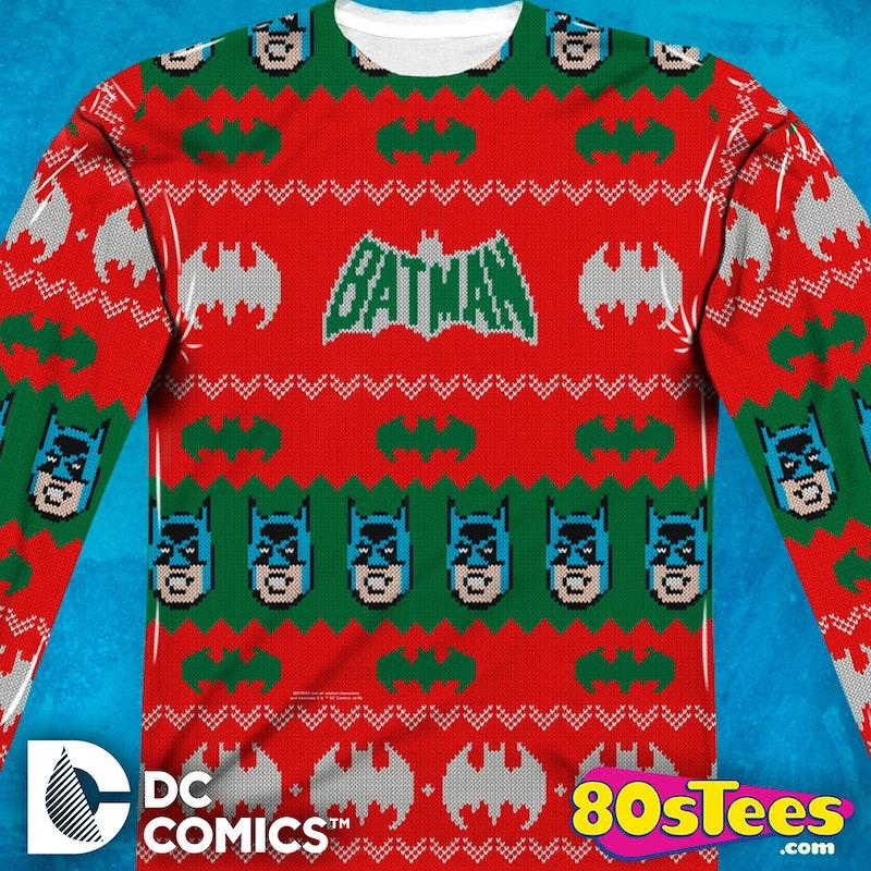 batman sublimated christmas sweater batman mens long sleeve shirt