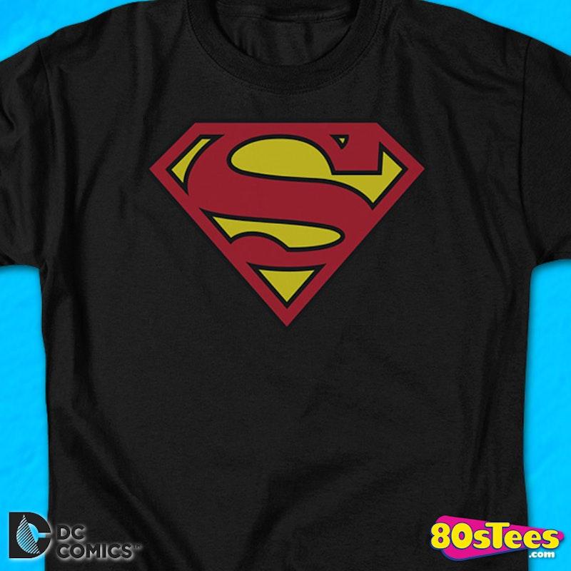 black superman logo shirt dc comics justice league superman t shirt
