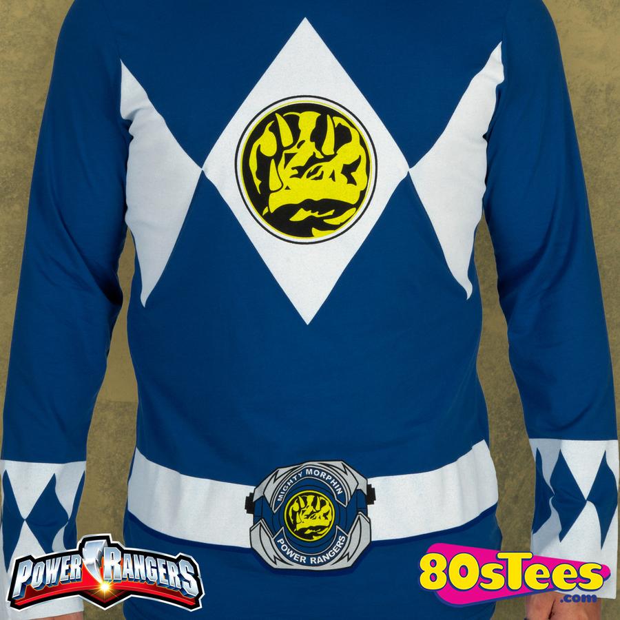 Power Rangers Blue Long Sleeve Costume Shirt