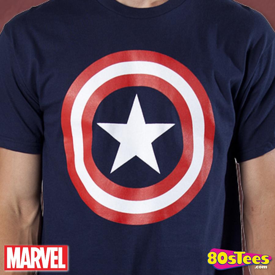 Captain America Shield T-Shirt: Marvel Comics Captain America T-shirt