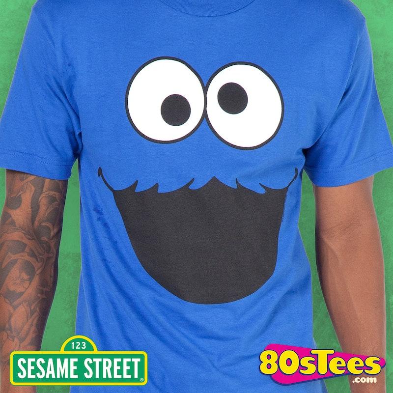 72385a5b4430 Adult Men s Sesame Street Cookie Monster Face T-Shirt  Great   Parties