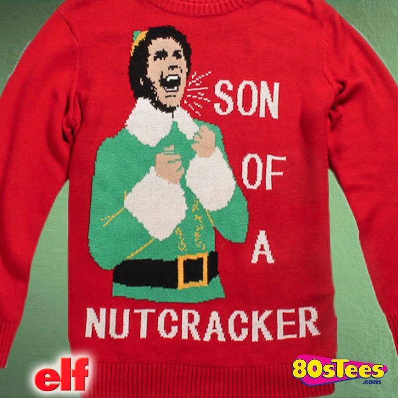 Elf Son Of A Nutcracker Christmas Sweater Elf Mens Sweater