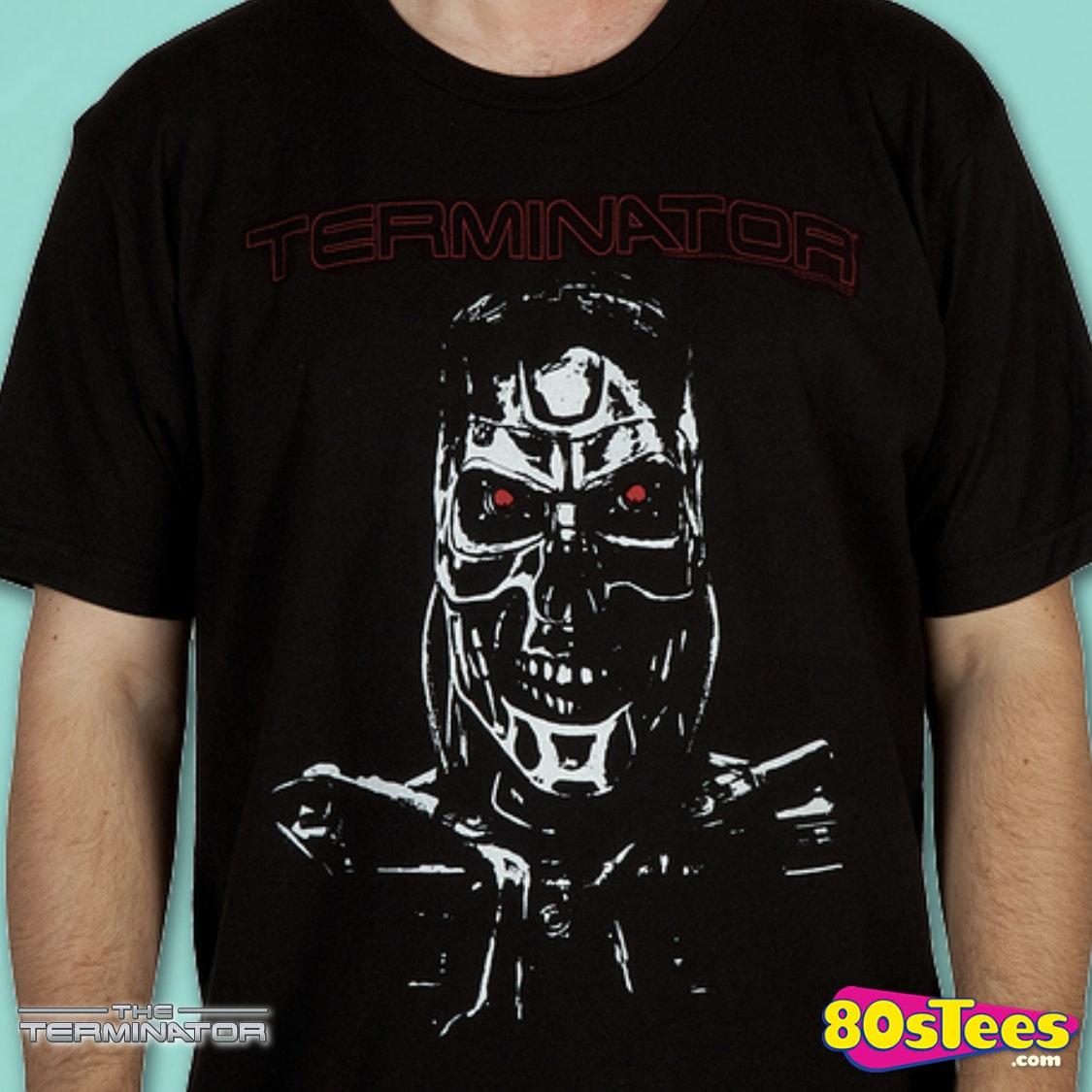 endoskeleton terminator cyborg shirt  terminator mens t