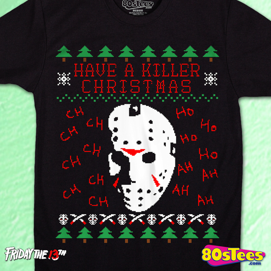 Faux Ugly Killer Christmas T-Shirt: Friday the 13th Mens T-Shirt