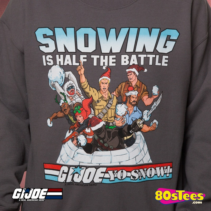 Gi Joe Faux Ugly Christmas Sweater Gi Joe Mens Sweatshirts