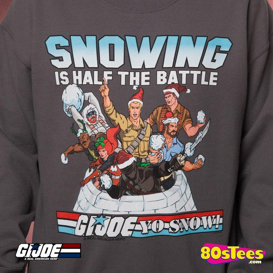 gi joe faux ugly christmas sweater  gi joe mens sweatshirts