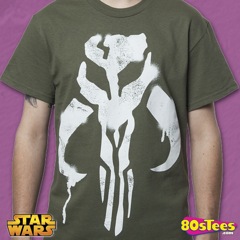 Green Mandalorian Symbol Shirt Star Wars Boba Fett Mens T Shirt